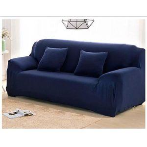 housse de canape bleu marine achat vente housse de canape bleu marine pas cher soldes d s. Black Bedroom Furniture Sets. Home Design Ideas