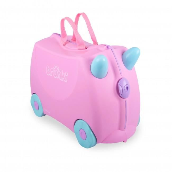 TRUNKI Ride-on Valise à roulettes Rosie - Rose clair