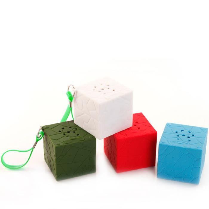 Mini Cube Portable Stéréo Sans Fil Bluetooth Haut-parleur Pour Smartphone Tablet Pc Rd @5732