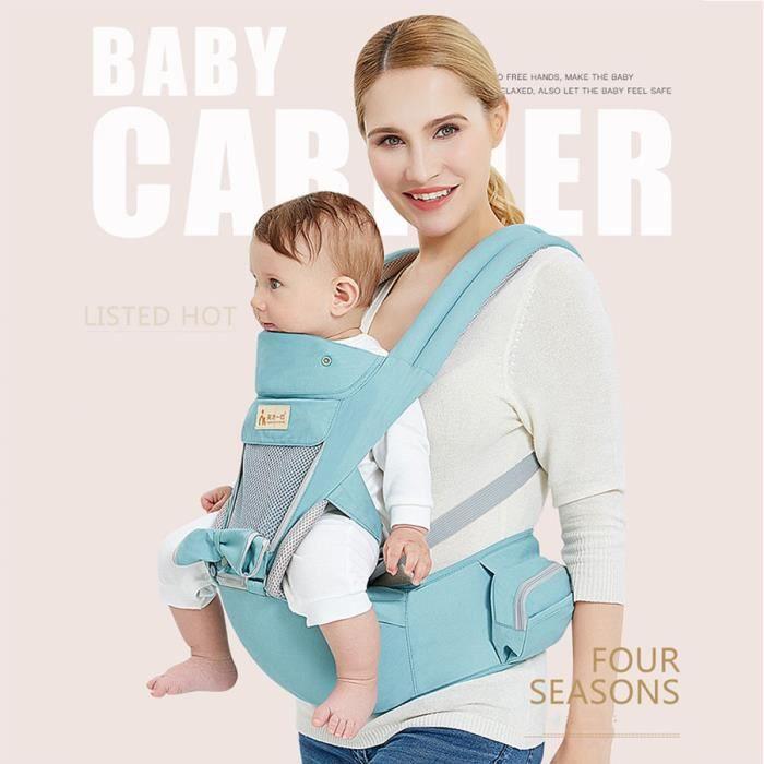 fc5365e3415 Porte Bébé lombaire banc bébé fronde multifonctionnel ceinture de sécurité  pour enfants bleu SWAREY