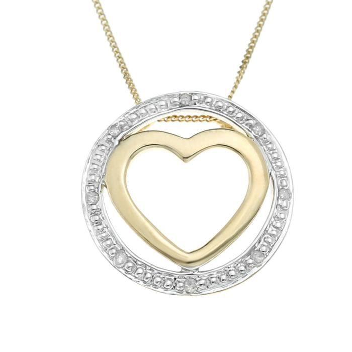 Collier - Or Jaune - Diamant - 1.4 Cm - Gp349d Z8P0R