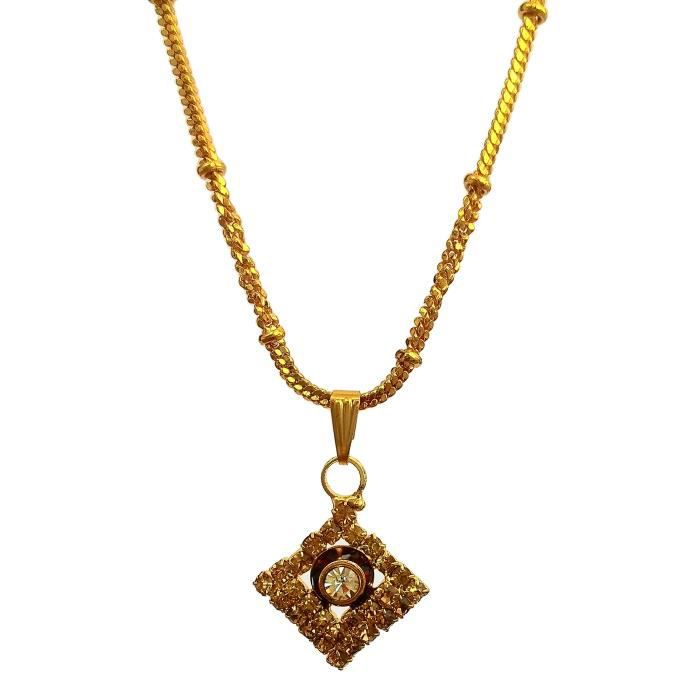 Womens Alloy Golden Color Pendant With Chain ForRRDW3