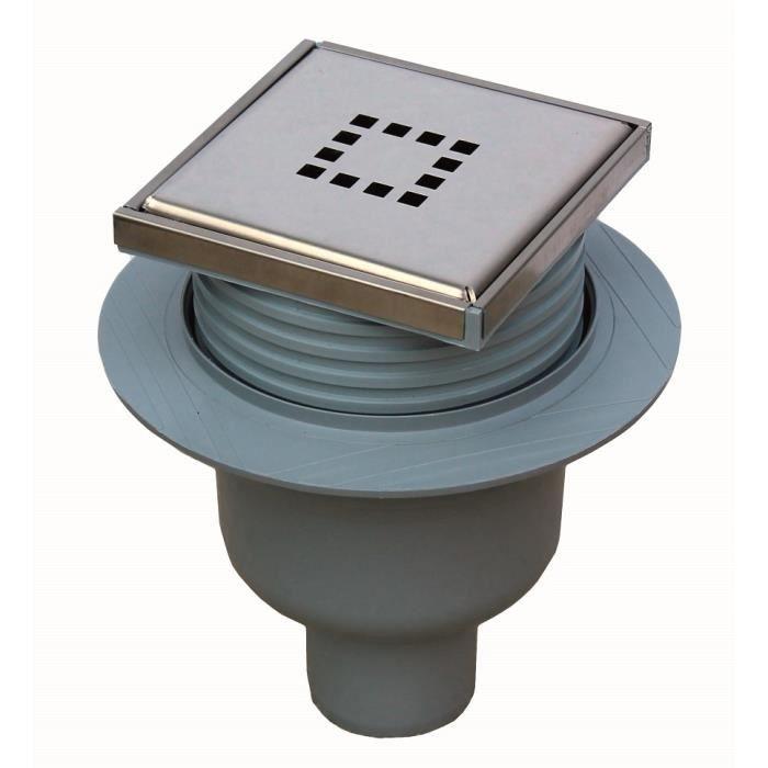 siphon bonde douche italienne 100 x 100 mm verti achat vente siphon de lavabo siphon