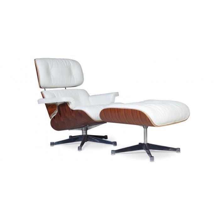Le Fauteuil Charles Eames Palissandre avec repose pieds assorti est ...