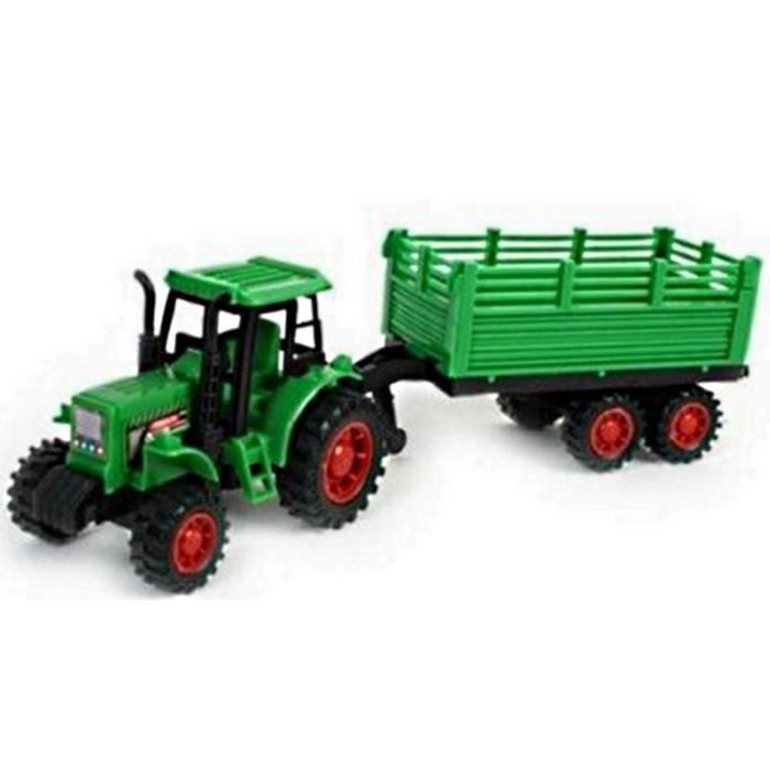 Jouet tracteur et remorque a retrofriction 30 cm avance tout seul achat vente tracteur - Tracteur remorque enfant ...