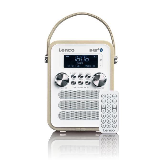 Lenco Pdr-050, Portable, Numérique, Dab ,fm, 87,5 - 108 Mhz, 3 W, Lcd