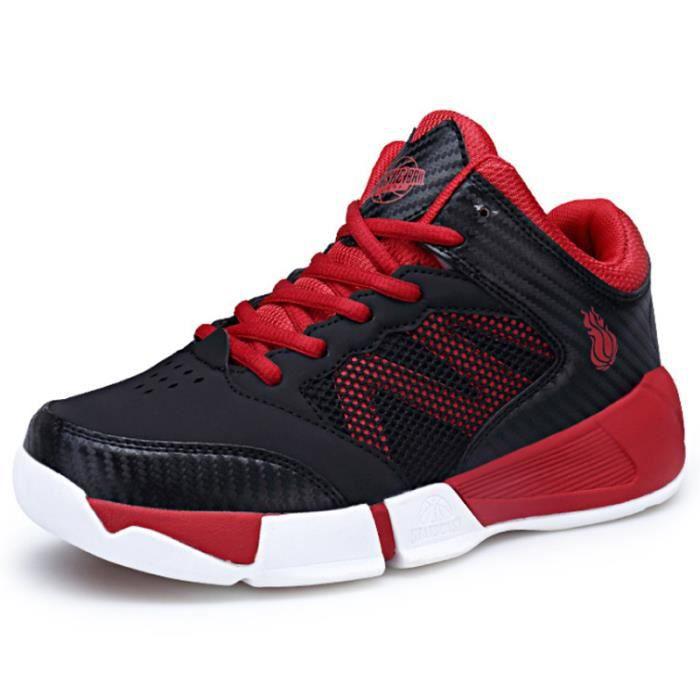 Baskets Enfants Confortable Sport Chaussures Garçons ZX-XZ098Rouge41