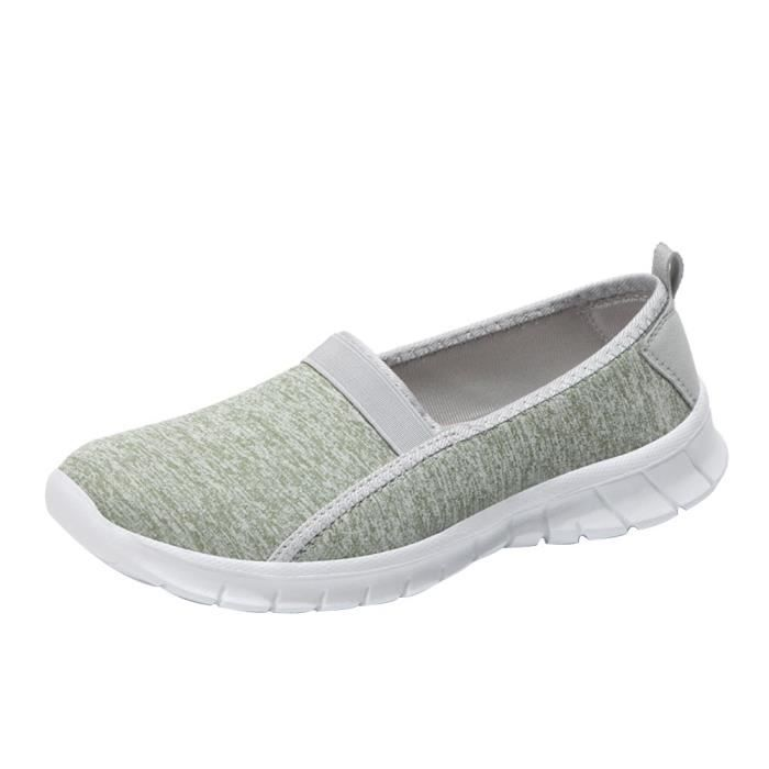 on Menthe Slip Sports Breathable Shoes Lazy Femmes Soft 5646 y Verte Fashion Casual Sole 0wqvIgt