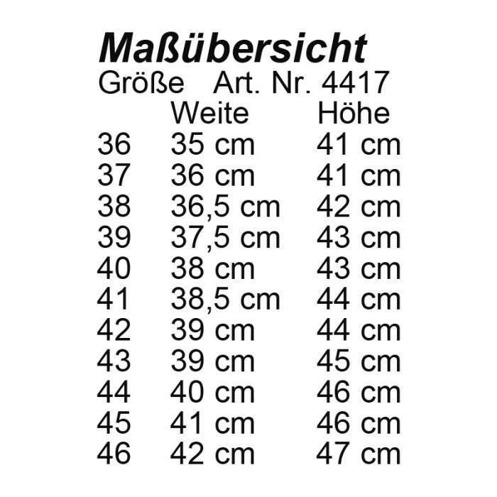 Bottes Valencia tige courte 42 V (L 39cm H 44cm) Noir