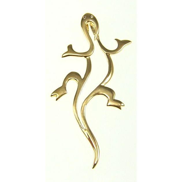 Parure Salamandre Plaqué Or 750/1000 avec CZ