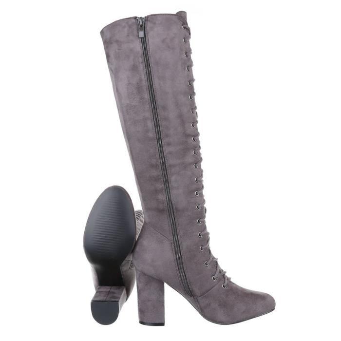 Bottes élégantes | femmes bottes | élégantes Bottes de pointe |Bottes à lacets | bottes hautes| Bottes d'optique en cuir | bottes