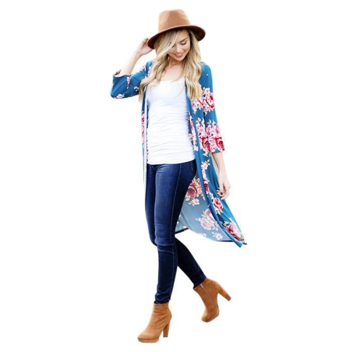 Manteau Tops Kanyrne Veste Top Suit Wdl70922461bu Femmes Casual Blazer Outwear Bleu Slim 7xFqzZ07
