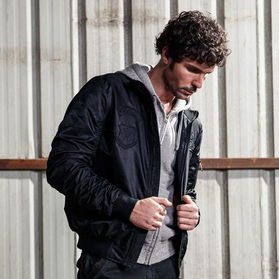 Bomber Homme Mode Aviateur Manches Longues Ma1 BUH1wx5H