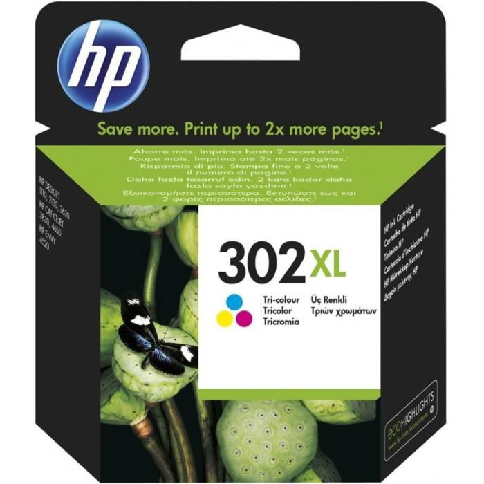CARTOUCHE IMPRIMANTE HP 302XL cartouche d'encre trois couleurs grande c