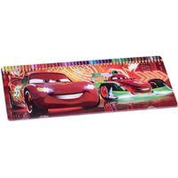 JEU DE COLORIAGE - DESSIN - POCHOIR boite métal de 50 crayons de couleurs voiture cars