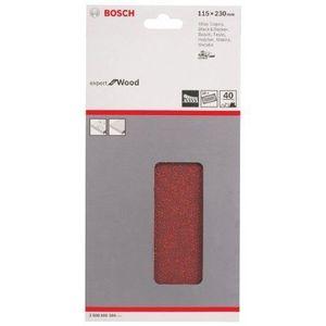 BOSCH Feuilles abrasives C430 pour ponceuse vibrante - 14 trous - Pack de 10 - 230x115 mm - Grain 40