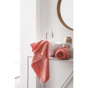 FINLANDEK Set de 2 Serviettes de toilette KYLPY 50x100 cm corail