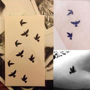 TATOO - BIJOU DE CORPS Tatouage Temporaire Peau Tatto Oiseaux Autocollant