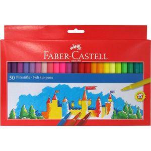 Stylo - Parure Faber-Castell 554250 Boîte de 50 feutres Multicolo