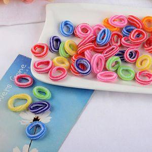 images officielles Los Angeles haute couture Enfants cheveux corde Fille Multicolor Elastic Hair Tie Band ...