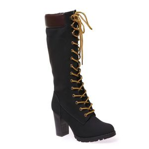 Bottes femme Bottes Talons hauts Mode Chaussures Femme Plate-forme Flocon flambeau Bottes hiver Chaussures féminines Femmes Botas bkLN3