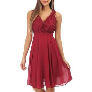ROBE Robe bordeaux patineuse grandes tailles avec brode