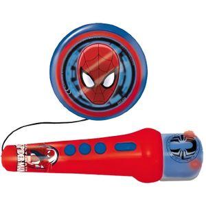 INSTRUMENT DE MUSIQUE SPIDERMAN Microphone et haut parleur - A piles