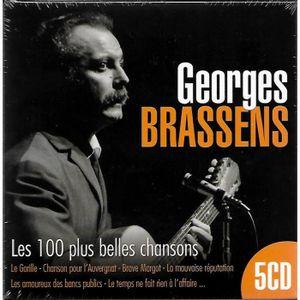 CD VARIÉTÉ FRANÇAISE 5CD GEORGES BRASSENS : Les 100 Plus Belles Chanson