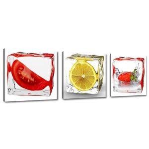 TABLEAU - TOILE 150 x 50 cm impression sur toile fruits 4204-SCT -