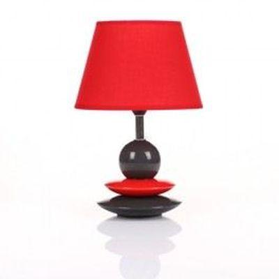 Lampe De Chevet Galets Design Noir Et Rouge Achat Vente Lampe De