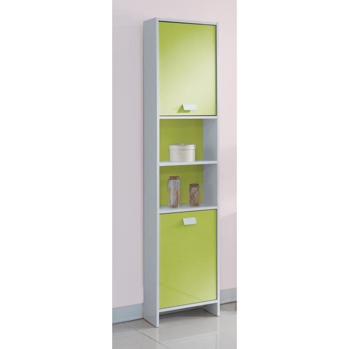 top colonne de salle de bain l 40 cm blanc et vert