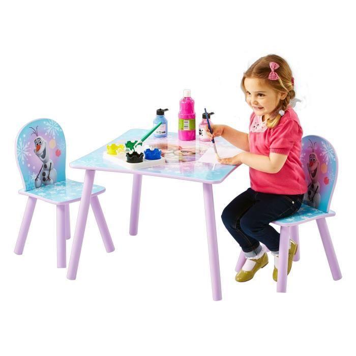 LA REINE DES NEIGES Ensemble Table Et 2 Chaises