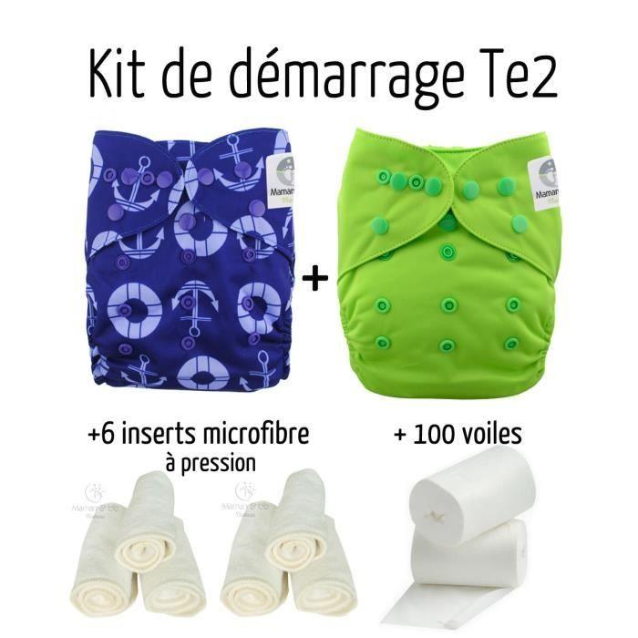 Pack Découverte Couches Lavables Te2 Insert Et Voiles De