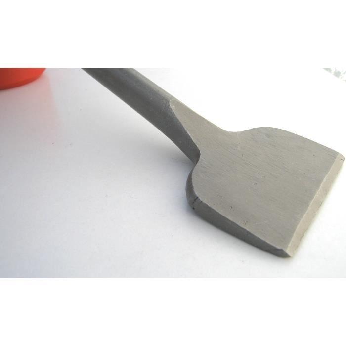 Burin large carrelage SDS-MAX Plat pour Carreleur Grattoir pour carrelage Burin b/êche pour marteau perforateur tige ronde 115 x 350mm
