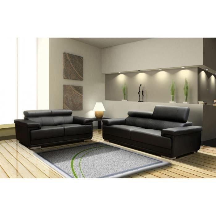 canap cuir achat vente canap cuir pas cher soldes d s le 10 janvier cdiscount. Black Bedroom Furniture Sets. Home Design Ideas