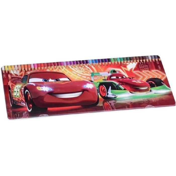 Boite Metal De 50 Crayons De Couleurs Voiture Cars Cadeau De Noel