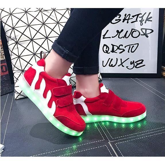 Femme 7 Couleur USB de recharge Chaussures clig...