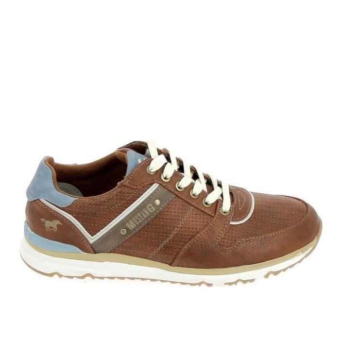 Chaussure de ville MUSTANG Sneakers 4095307 Marron Bleu