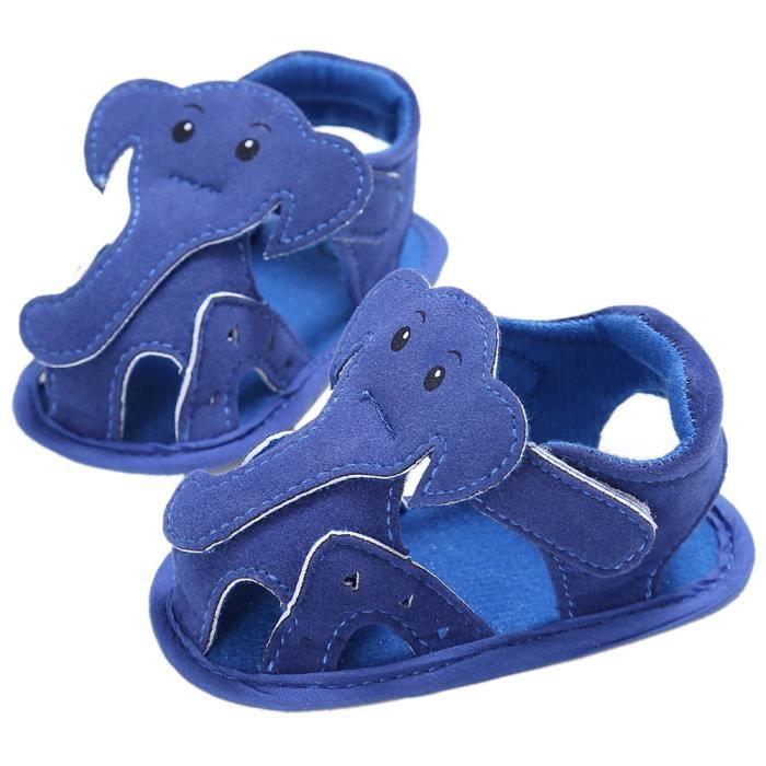 Frankmall®Bébé fille garçon Éléphant Semelle molle berceau enfant sandales nouveau-né chaussures BLEU#WQQ0926451 Y5WKzUq
