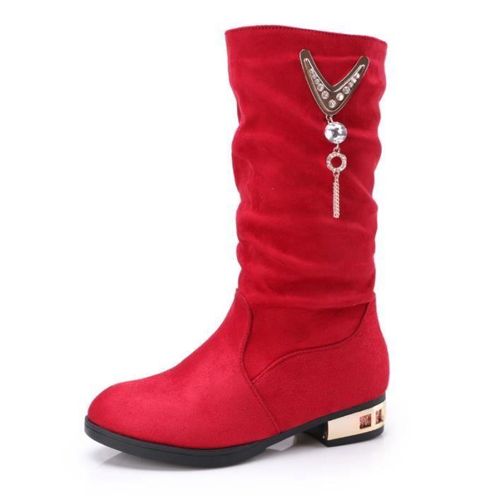 Fashion girls warm casual boots princesse dans les bottes en coton chaussures pour enfants Xz1YdKgi