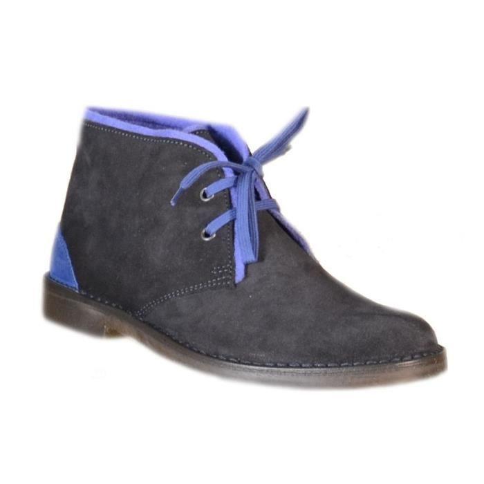 Cafènoir - Cafènoir Chaussures pour Homme Bleu Cuir TDT600
