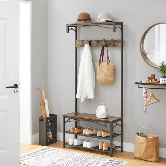 vasagle vestiaire au style rustique meuble d entr e avec. Black Bedroom Furniture Sets. Home Design Ideas