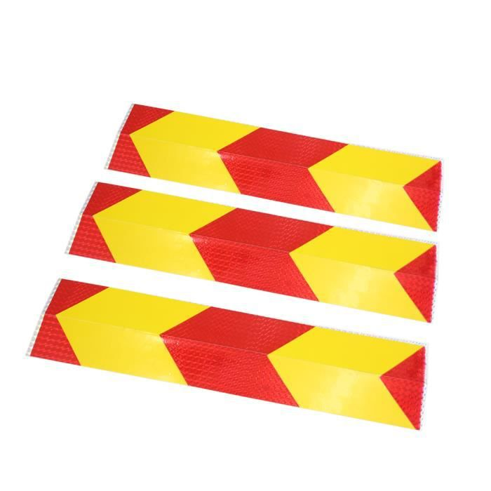 Sourcing Map 3pcs Voiture Rectangle Reflechissant Corps Stickers