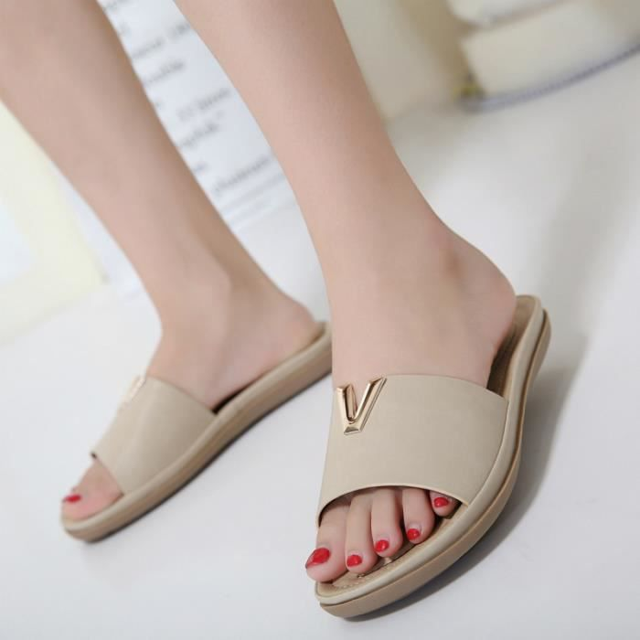 Sandales Femme Chaussures Plage Style Casual Confortable