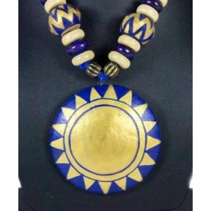 Collier dor bleu royal de femmes Set HLX71