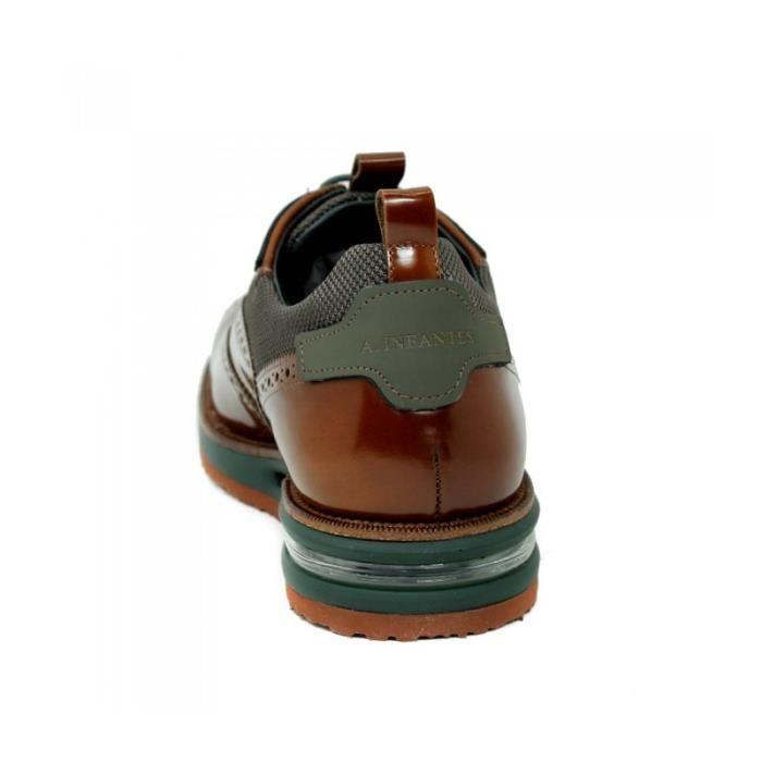 ANGEL INFANTES Chaussures Blucher - Lacets En Cuir - Marron - Taille - Quarante-cinq Homme Ref. 1540_36133 w4LpNu