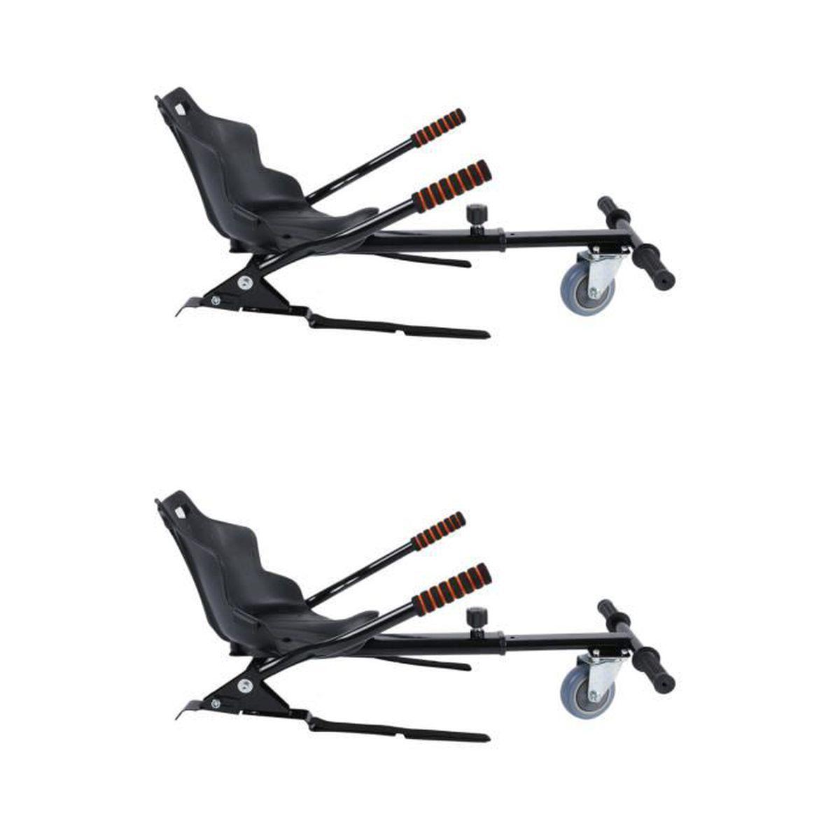 LESHP® Hoverkart - 2PCS Kit de Kart Universel pour Hoverboard Noir-Capacité 120kg
