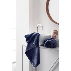 FINLANDEK Set de 2 Serviettes de toilette KYLPY 50x100 cm bleu marine