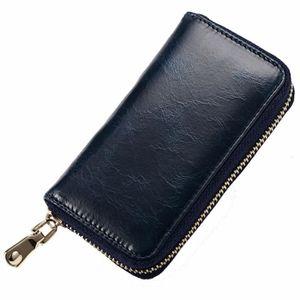 Porte-monnaie en Cuir Vintage pour Etuis porte-clés, Etuis porte-clés Bleu  Foncé 90b08d7c56a