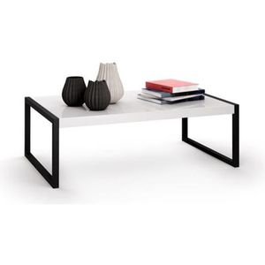 TABLE BASSE Mobili Fiver, Table basse, Luxury, Blanc laqué bri